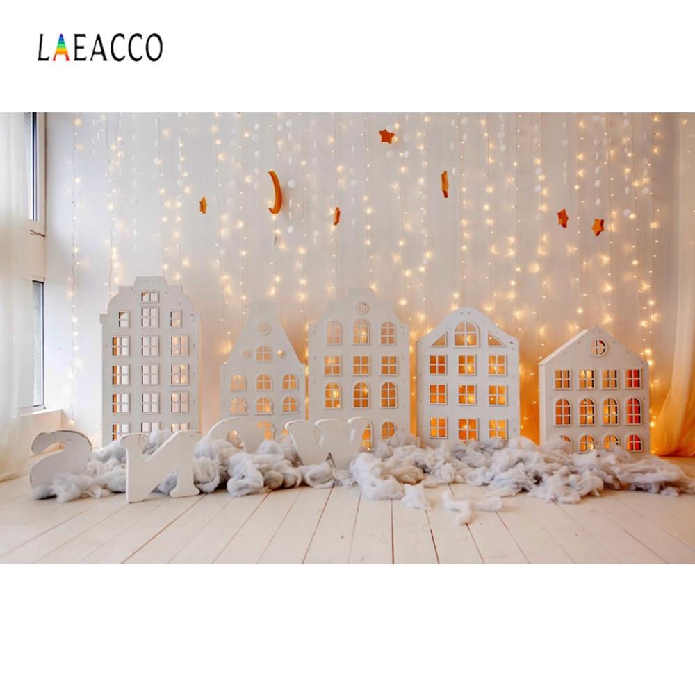Laeacco, bombilla de luz brillante, pared gris de algodón, suelo de madera, retrato de bebé recién nacido, Fondo de fotografía, Fondo de estudio fotográfico