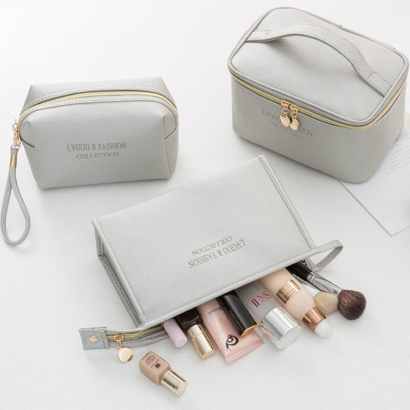 Neceser transparente Para Mujer, bolsa mágica Para Maquillaje, cosmeticos, kosmtyczka