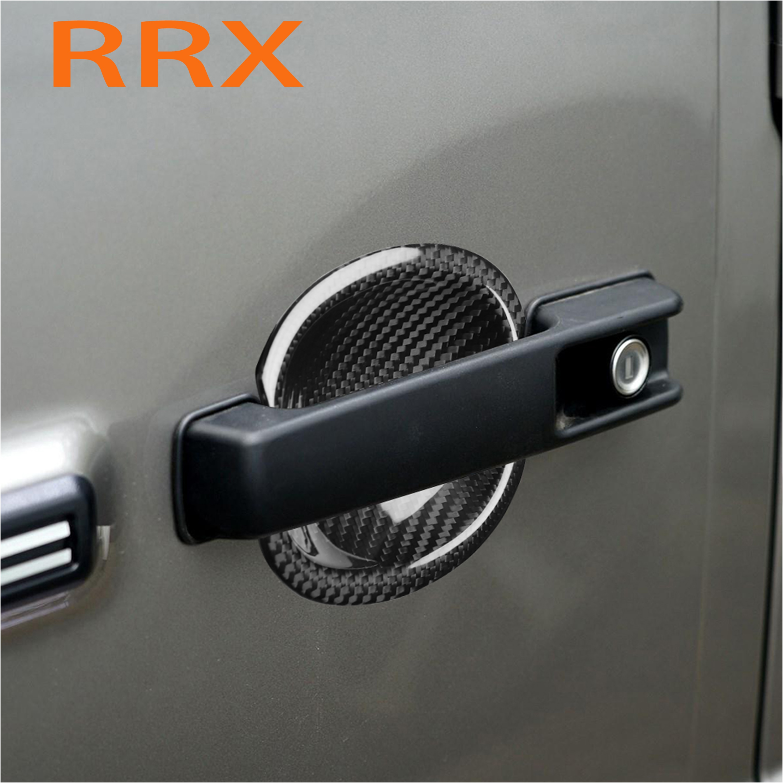 For Benz G500 W463 W464 G63 G65 Door Bowl Sticker Auto Products 3D Carbon Fiber Car Door Cover Film Handle Scratch Stickers