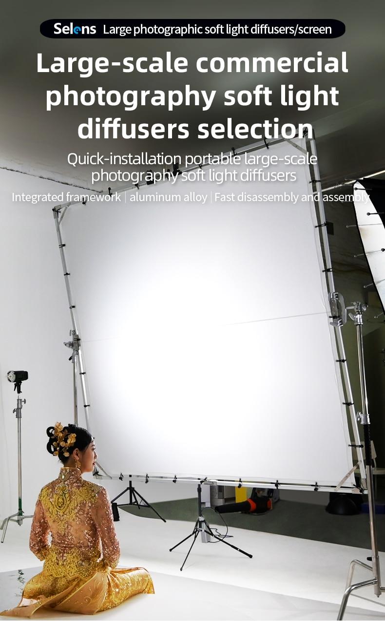 Selens التصوير لينة ضوء الشاشة طوي العلم مجلس 1.5 متر/2 متر/2.4 متر/3.6 متر ل فيلم طاقم الإعلان التصوير