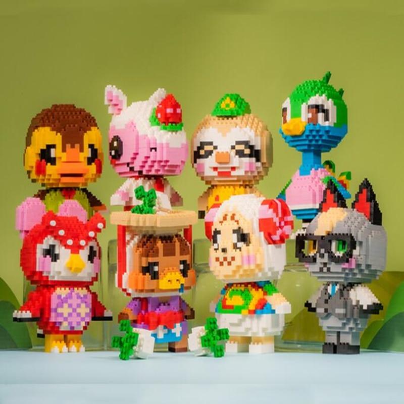 Хит продаж, блоки пересечения животных, пазл Раймонда Селеста, 3D модель, «сделай сам», мини-алмазные блоки, кирпичи, строительные игрушки для...