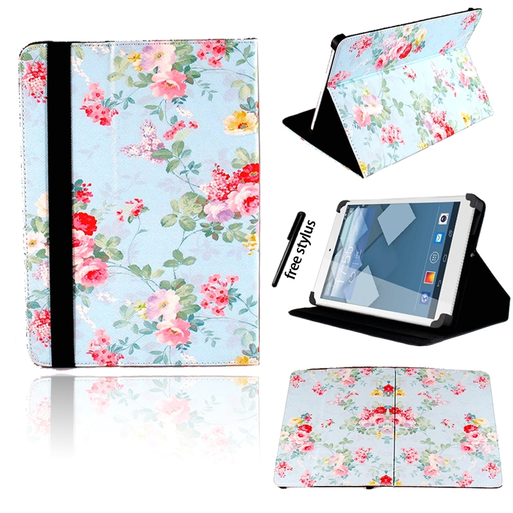 Universal Tablet Case for Alcatel Pixi 4/One Touch Pixi 3/Pixi 7 Anti-shock Smart Leather Folding Cover Case+ Free Stylus enlarge