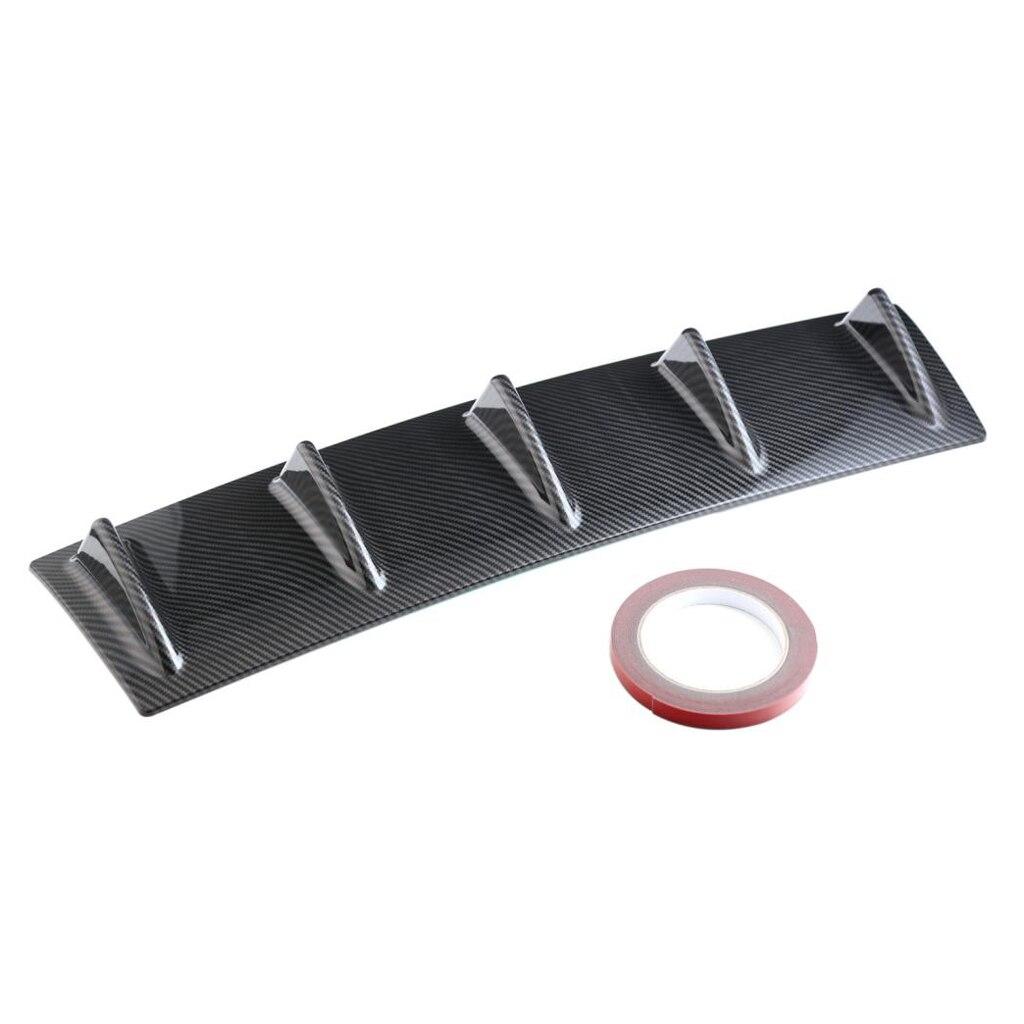 Parte trasera del coche parachoques labio chasis Spoiler aleta de tiburón difusor ABS plástico