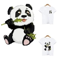 kungfu panda stripes iron on patches clothes stickers stripe application of one another transfer fusible clothing applique patch