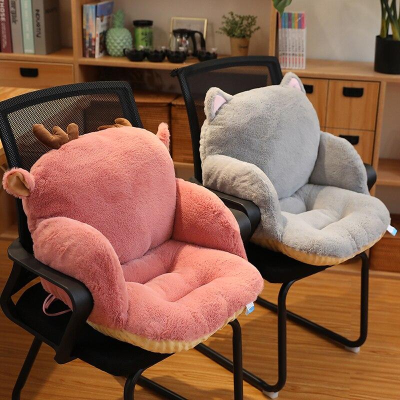Подушка для сиденья, плюшевая подушка в виде кролика, планшетофон, встроенная подушка для стула, подушка для дивана, подушка на талию, долгосрочная подушка
