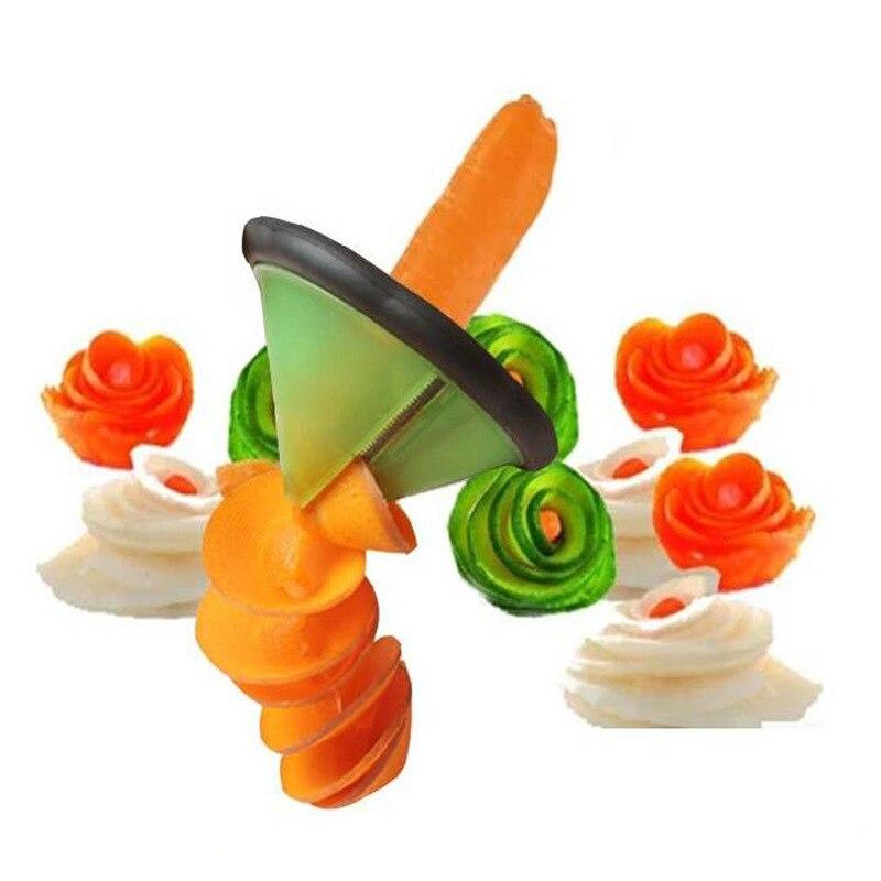 Cortador de vegetales, cortador en espiral de plástico, pelador de frutas, dispositivo de cocina, accesorios ingeniosos, herramienta de cocina, utensilios de cocina