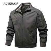 men military jacket bomber coats cotton pilot jacket autumn spring outwears mens brand clothing cargo slim fit jacket lm072