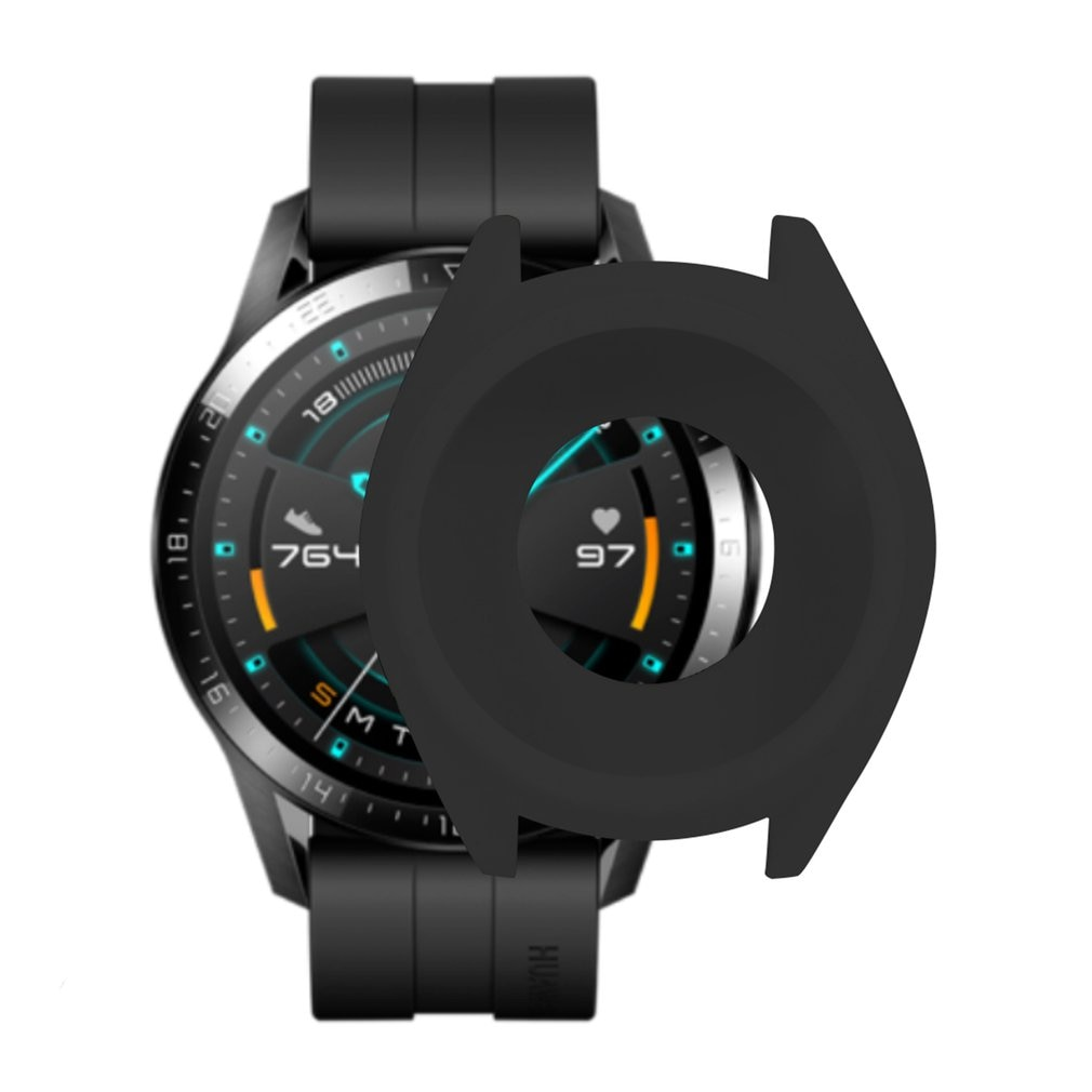 Soft TPU Silicone Case Cover For Huawei Watch GT 2 GT Smart Bracelet Protective Frame Shell For GT2 Wristband Protector Sleeve tpu soft silicone soft full screen glass protector case shell frame for huawei honor es watch fitting plating protective cover