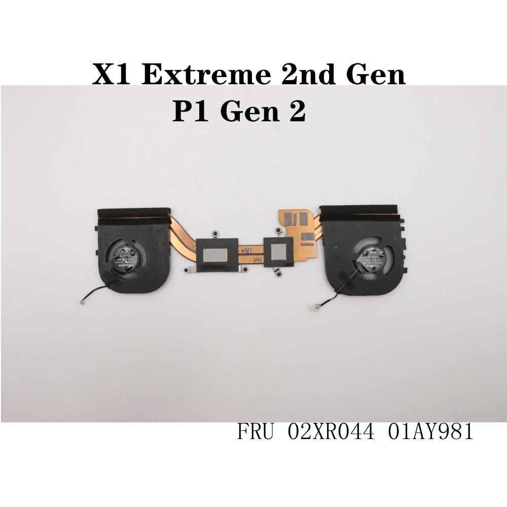 For Lenovo Thinkpad P1 Gen 2 X1 Extreme 2nd Gen Laptop CPU Cooler Fan Heatsink FRU 01AY981 02XR044