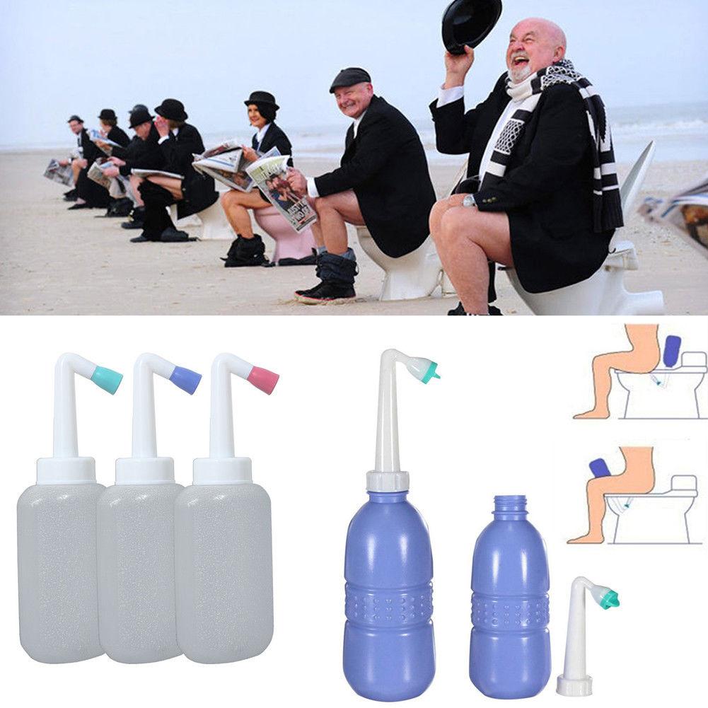 1Pc Outdoor 450ml Portable EVA Handheld Bidet Travel Mini Toilet Personal Spray Water Seat Portable Flusher