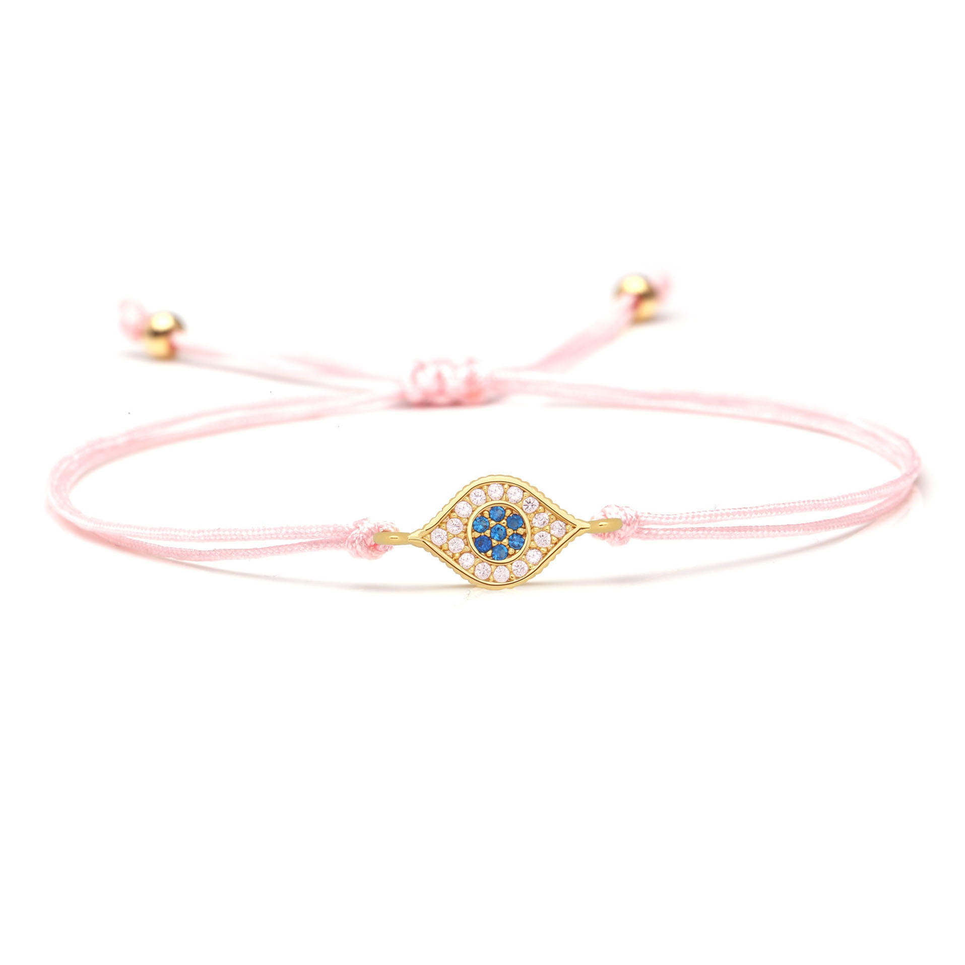 Weiß Zirkon Kristall Blau CZ Evil Eye Charm Armband Frauen 2019 Neue Mode Zirkonia Kupfer Auge Rosa Rot String schmuck