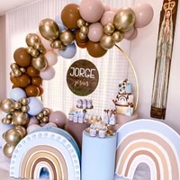 102pcslot coffee brown balloons garland arch kit retro pink latex balloon backdrop birthday party wedding valentines day decor