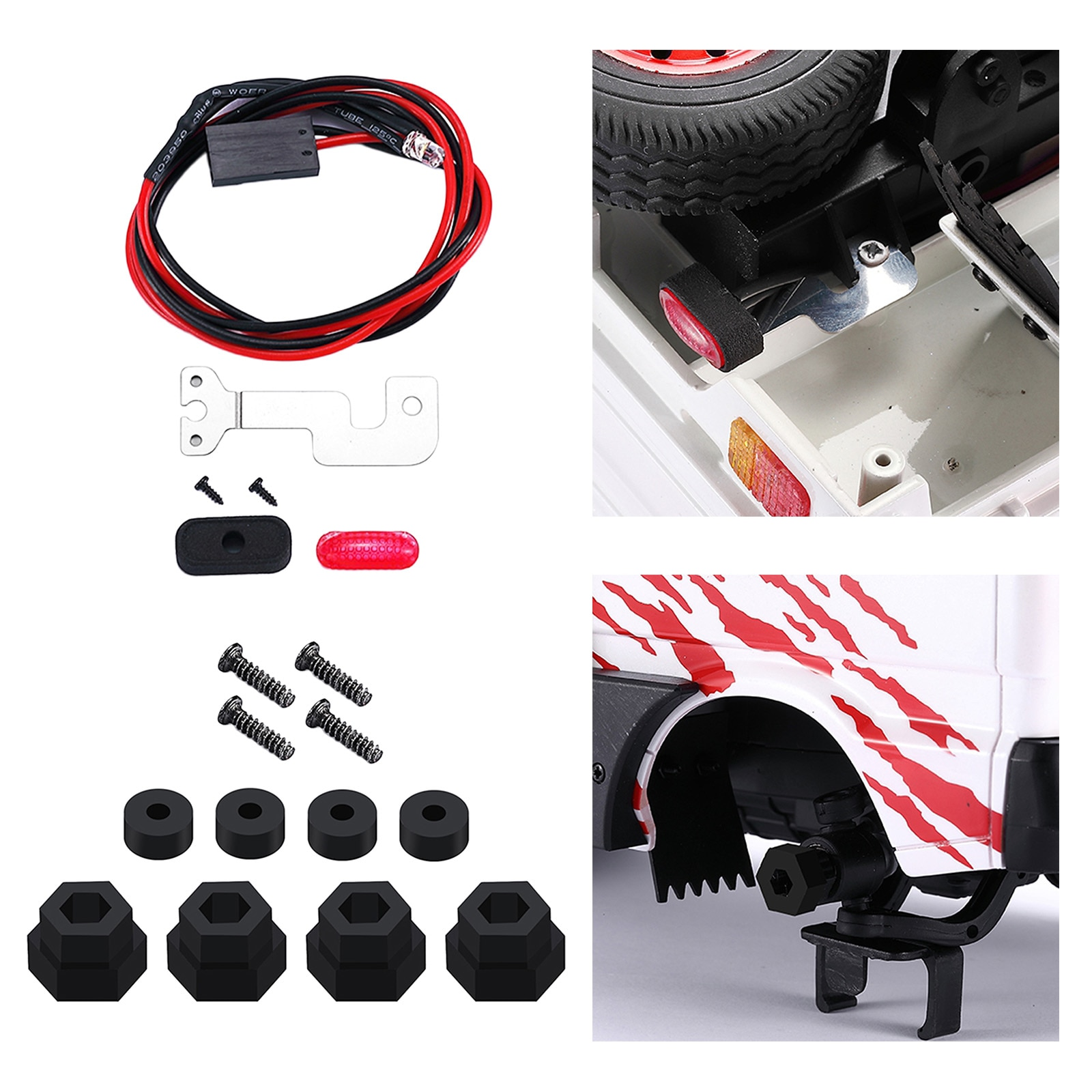 Premium 1:10 Scale RC Car Upgrade Parts for WPL D12  Car Truck Hobby Accessories 13mm Kids Adults Gi