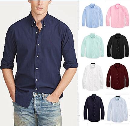 D2105 أوم حصان صغير المهر عالية الجودة 100 ٪ القطن قميص الذكور فستان بكم طويل قمصان عادية موضة Hombre كم نمط