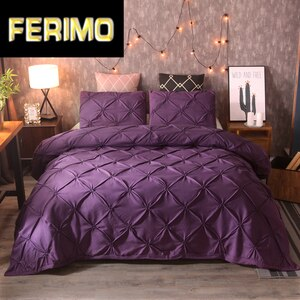 luxury Pinch Pleat bedding comforter bedding sets bed linen duvet cover set  bedding queen king size bedclothes bed set