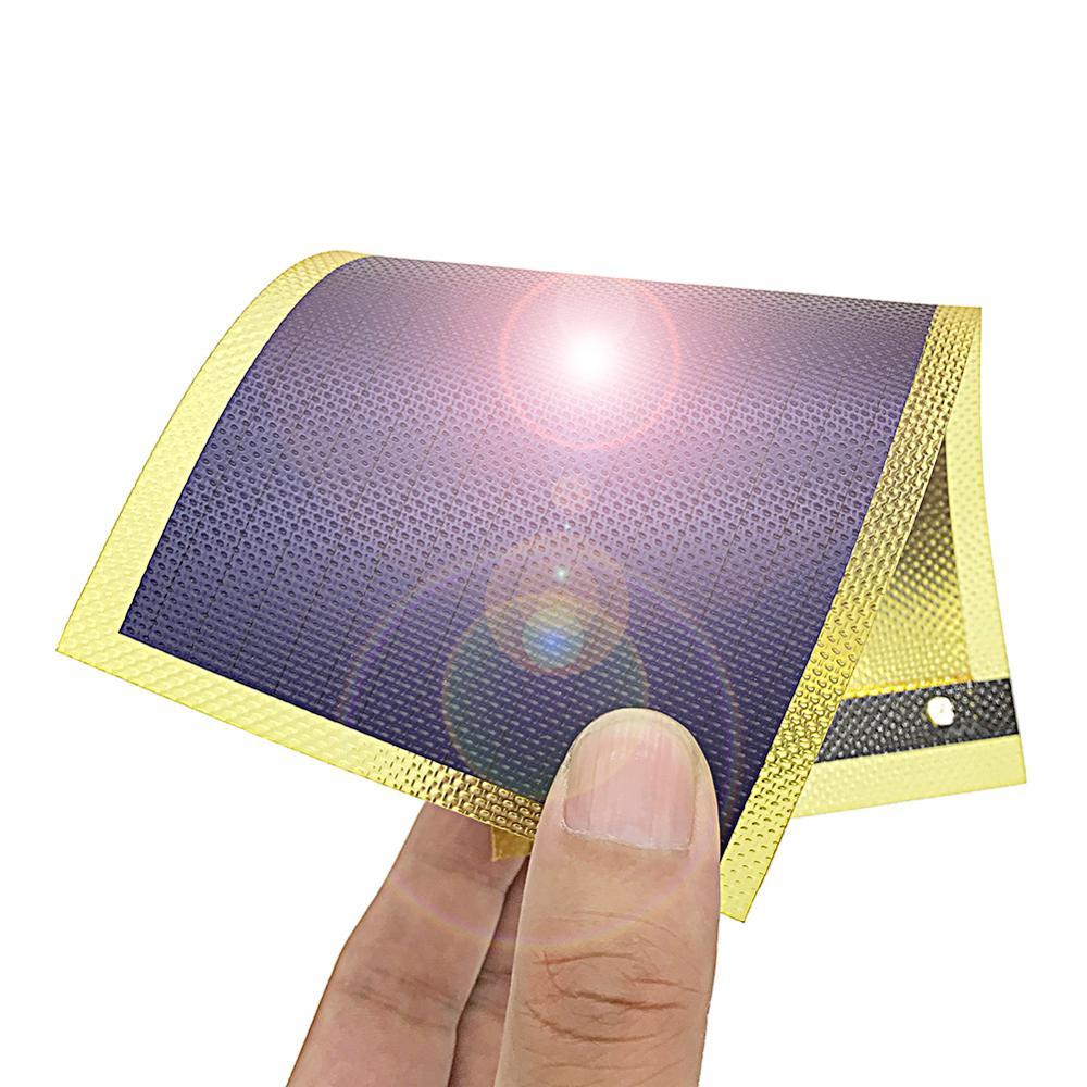 Panel solar flexible de película fina amorfa, placa solar flexible, célula de...