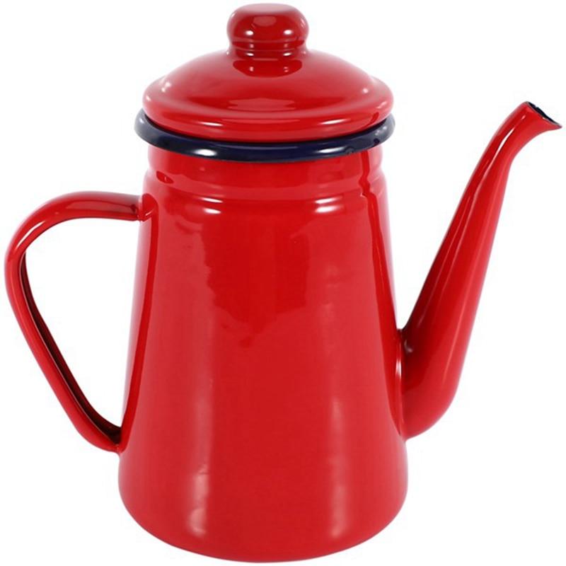 1.1L عالية الجودة المينا إبريق قهوة غلاية الحليب إبريق قهوة فرن الغاز ووعاء الفرن الكهرومغناطيسي