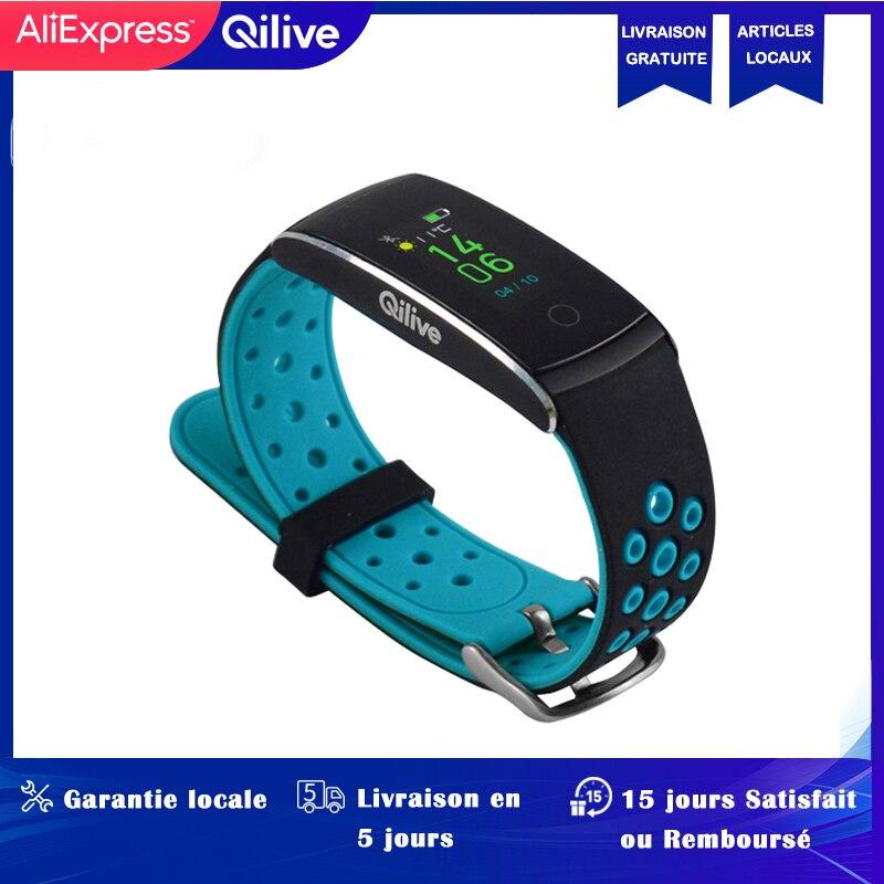 Reloj inteligente deportivo Bluetooth Qilive, reloj LED para fitness, pulsera inteligente, detector de ritmo cardíaco, banda de silicona, reloj de pulsera electrónico