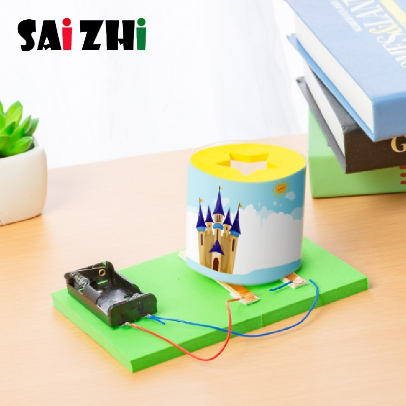 Saizhi Diy Induction Lamp Developing Intellectual STEM Toy Science Experiment Kit kids Lab Set STEM Kits Toys Gifts