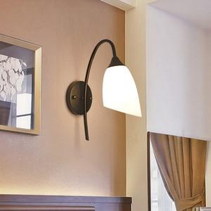 Simple modern creative living room led stairway aisle hotel lighting iron wall lamp bedroom bedside lamp vanity light LB12610