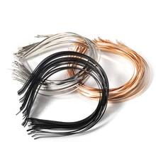 5pcs Kc Gold Silver Stainless Steel Headband Base 3/5/6/7mm Blanks Setting For Diy Bride Headwear Je