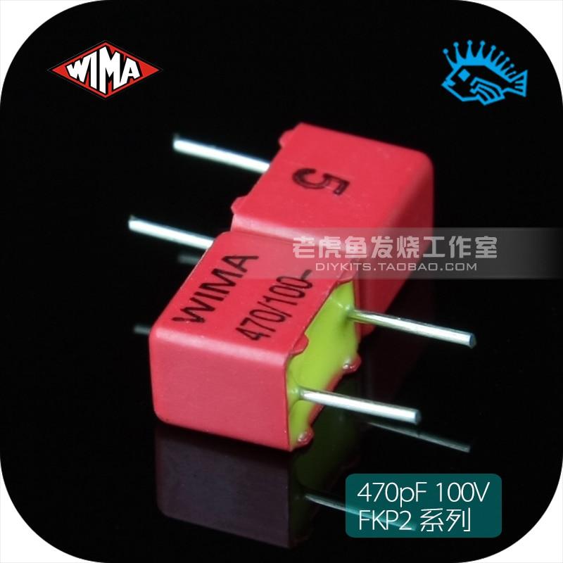 5pcs/50pcs 470pF 100V FKP2 series WIMA 471/n47/470p original brand new German copper foot film capacitor