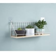 Iron Mesh Basket Cabinet Cabinet Door Storage Shelf Partition Wall Shelf Wall Hanging Decorative Small Shelf