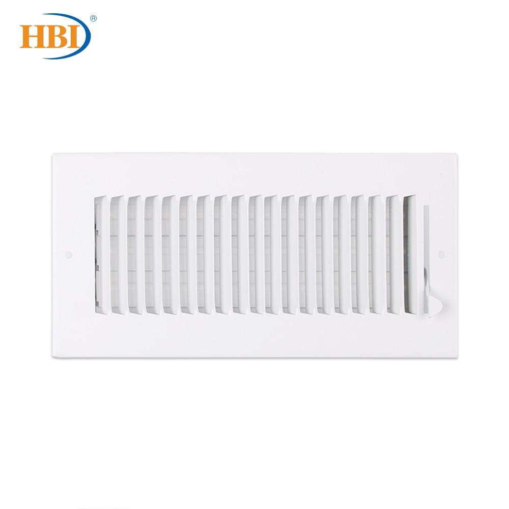 HBI-شبكة تهوية ذات شفرة مستقيمة W10 × H4 ، نظام تسجيل إمدادات الهواء ، 1 طريقة ، W10 ، سقف فولاذي/جدار جانبي