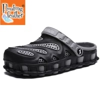summer men slippers 2020 massage clogs outdoor garden shoes male pool sandals bathroom flip flops