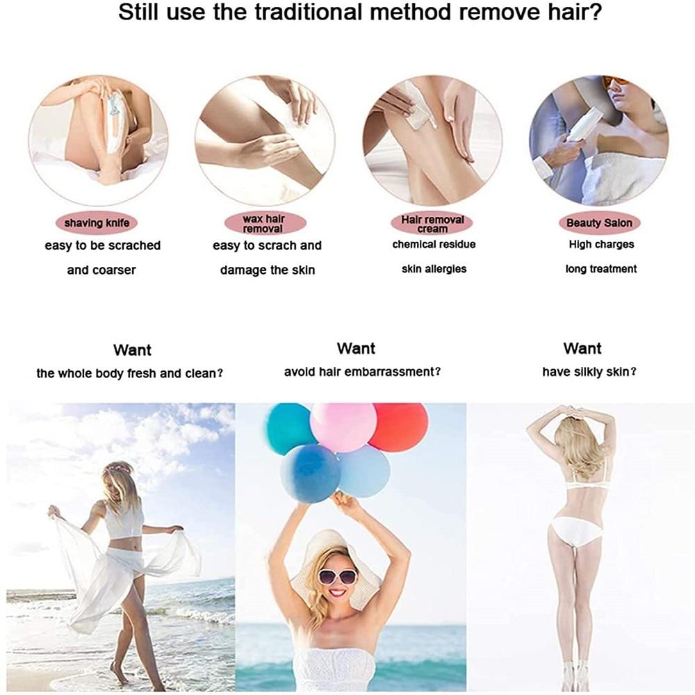 999999 Flash Laser Epilator Women Painless Permanent IPL  Hair Removal DeviceTreatment Pubic Hair Trimmer enlarge