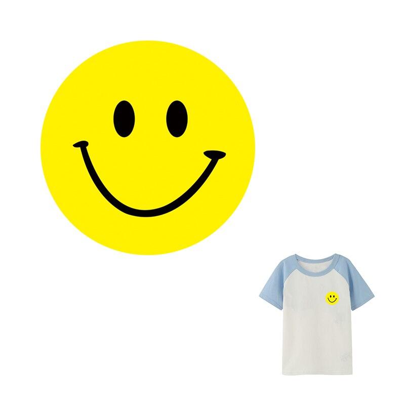 Transferencia de Calor pegatinas sonrisa transferencia térmica moda chica parches Diy camiseta familia hierro en parche grado A pegatinas térmicas