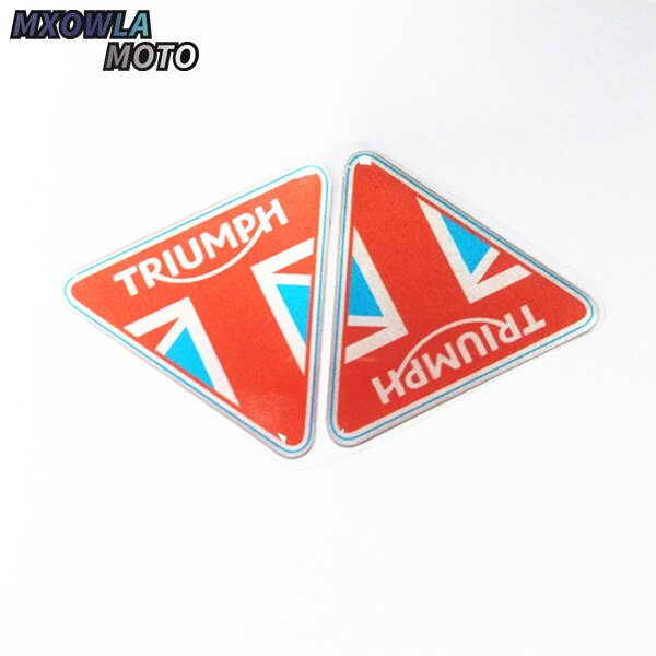 Triumph logotipo da motocicleta capacete da motocicleta bicicleta adesivo à prova dwaterproof água