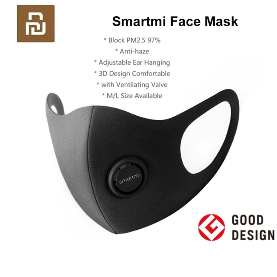 NEW Youpin Smartmi Filter Mask Block 97% PM 2.5 with Ventilating Valve Long-lasting TPU Material Filter Mask Smart Home