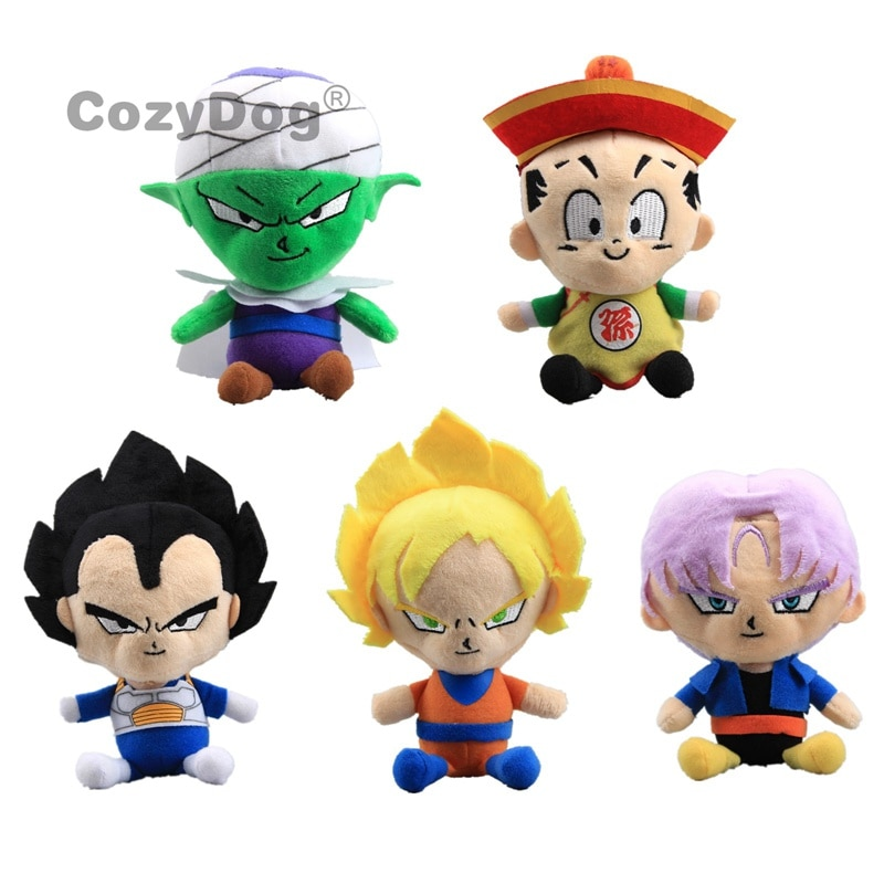 5 шт./лот Dragon Ball Z Vegeta Son Goku Vegeta Piccolo Gohan плавки плюшевые игрушки куклы 20 см