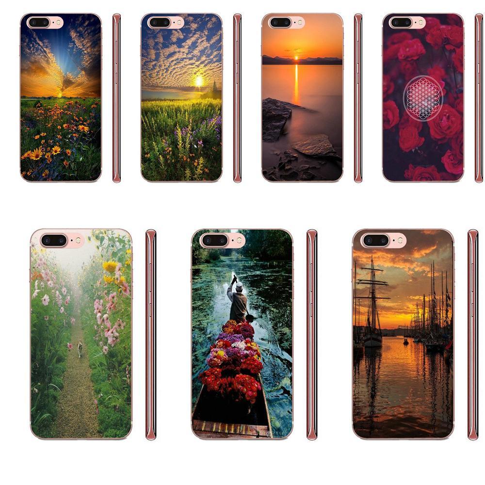 Flor de la vida Me trae horizonte para Samsung Galaxy Note 5 8 9 S3 S4 S5 S6 S7 S8 S9 S10 5G mini Plus Lite TPU Original