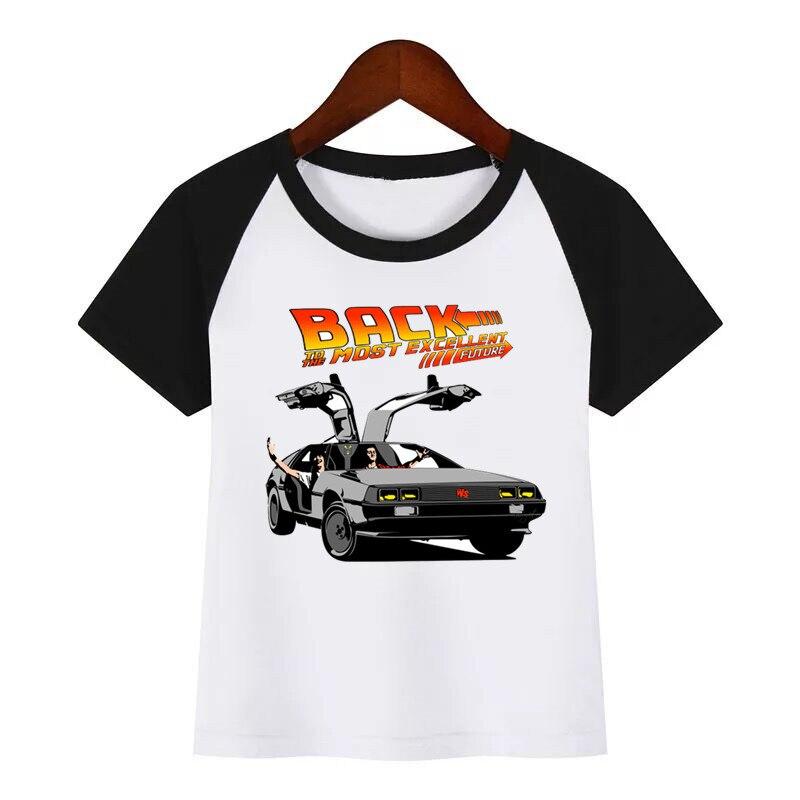 Новая детская летняя футболка с принтом «Назад в будущее», DMC delean модная детская одежда футболка детская футболка с рисунком