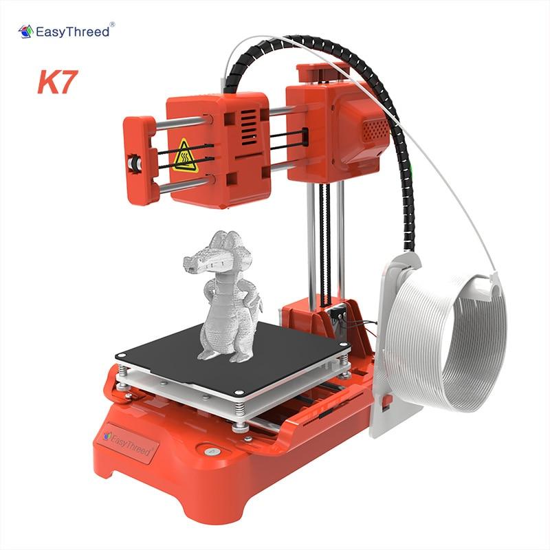 Easythreed K7 سطح المكتب طابعة صغيرة ثلاثية الأبعاد 100*100*100 مللي متر حجم الطباعة للأطفال طالب التعليم المنزلي