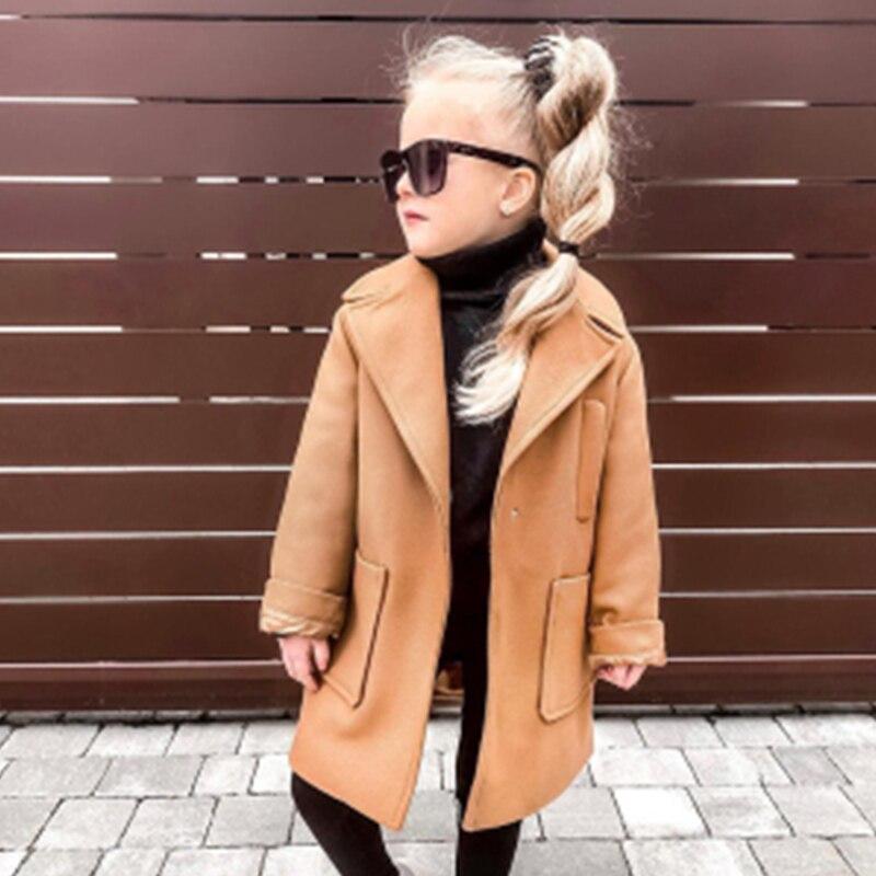 2020 г. Новая осенняя одежда для детей, плащ для маленьких девочек, пальто модное длинное пальто красного и серого цвета Зимние Топы для детей, ...