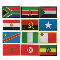 south africa egypt kenya congo nigeria angola morocco tunisia flag embroidery patch flags badges patches appliques emblem