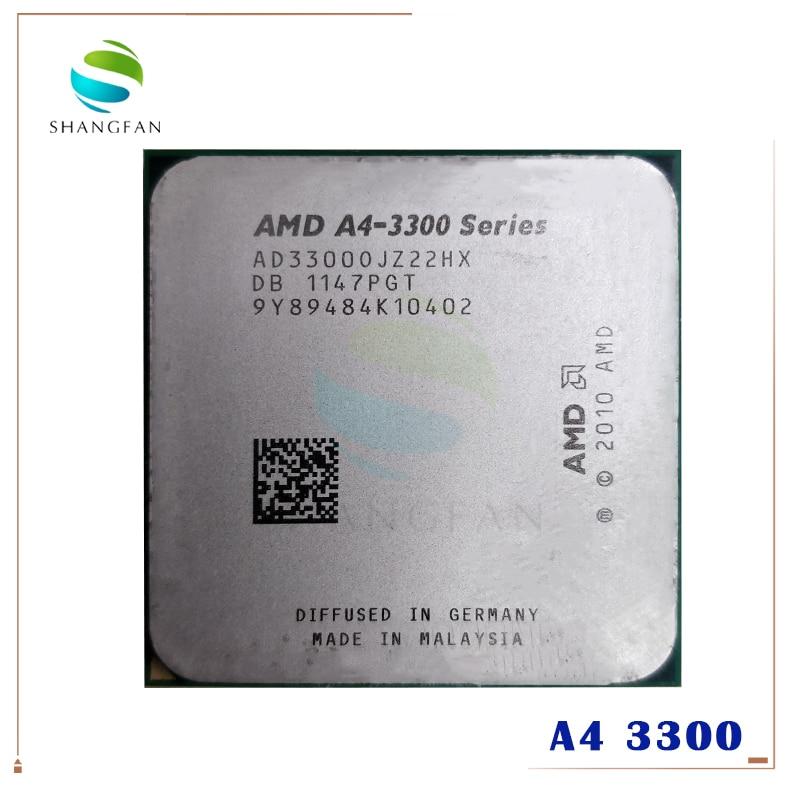 Procesador de CPU AMD A4 3300 A4-3300 2,5 GHz 65W Dual-Core AD3300OJZ22HX Socket FM1