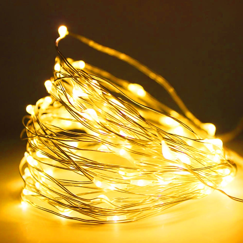 led string light 10m 5m 2m cooper wire holiday light fairy light for christmas wedding party decoration powered by battery usb 2M 5M 10M Led Light Strip Light String Copper Wire 3AA Battery Christmas Light for Garland Holiday Fairy Wedding Party Decor New