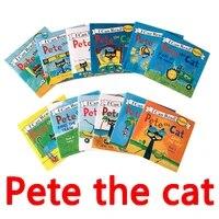 12 booksset pete cat english comicschildrens story libros educational enlightenment toys pocket reading libro livros livres