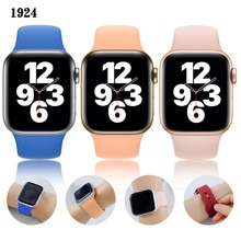 sports Silicone Strap For Apple Watch Band 44mm 40mm iwatch 42mm 38mm 44 Rubber watchband Belt Bracelet Apple Watch  4 3 5 6 SE