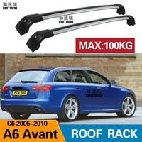 SHITURUI 2Pcs Roof Bars for Audi A6 Avant Estate C6 2005-2010 Aluminum Alloy Side Bars Cross Rails Roof Rack Luggage Carrier