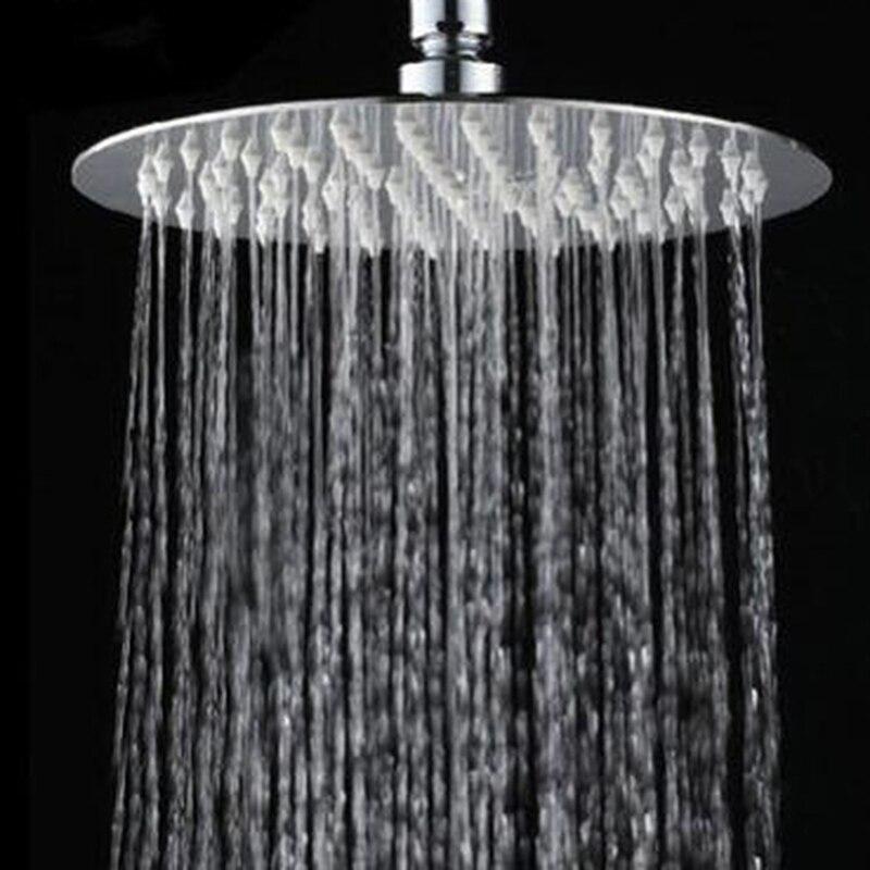 2020 nuevo cabezal de ducha de cascada ultrafino de acero inoxidable de alta calidad de 10/8/6 pulgadas cabezal de ducha de lluvia redondo cuadrado