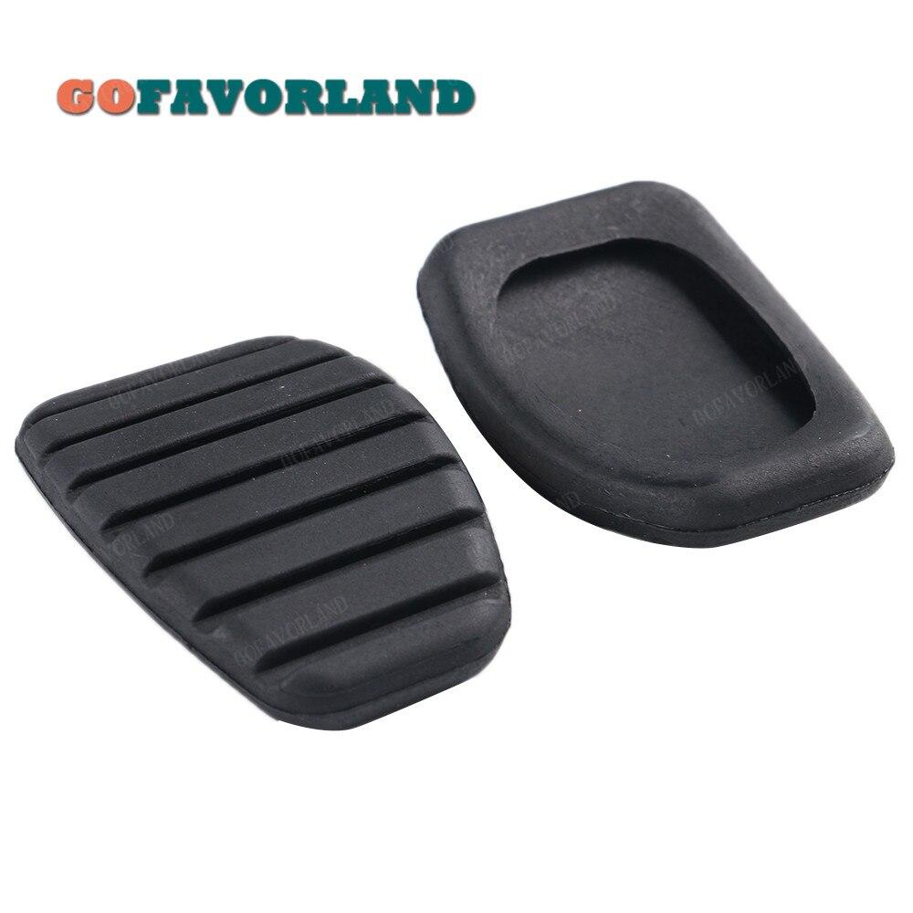 Embreagem do carro e pedal de freio de borracha almofada pedal capa para renault laguna 1997 1998 1999 2000-2008 megane clio 1998-2008 kango scenic