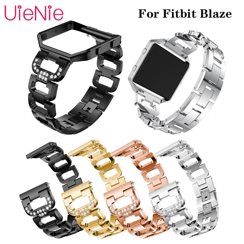 Для Fitbit Blaze металлический ремешок из нержавеющей стали для Fitbit Blaze мужские часы дамский браслет Сменные аксессуары без рамки