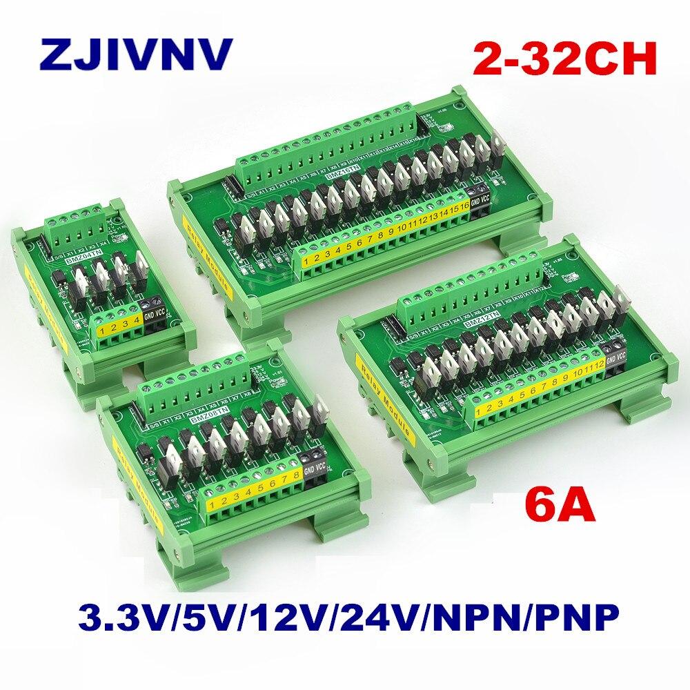 Carte amplificateur de Signal PLC   Carte 4-32 canaux IO carte PNP NPN, entrée de Conversion optocoupleur Isolation Transistor tension de commande 12V