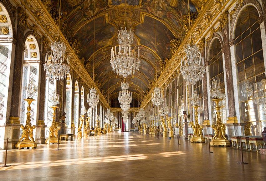 7x5ft espejo salón Versalles Chateau Francia arco ventana personalizado foto estudio Fondo vinilo Banner 220cm x 150cm