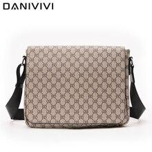 Famous Brand Designer Handbags Leather Briefcase Men's Messenger Bags for Men Purse Shoulder Bag Doc